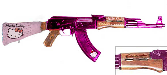 courtesy GlamGuns.com Girlfriend, your gun is glam! This is the Hello Kitty